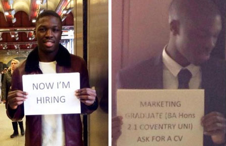 Marketing graduate finds job by advertising at Waterloo