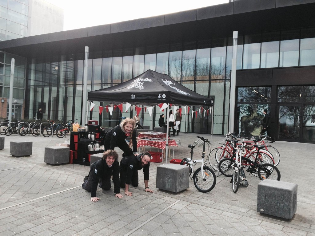The campaign at university, photo credit: London by Cycle