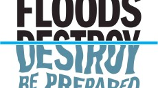 The government urges homes to be prepared in the event of flooding. Image credit: Public Health England 2008.