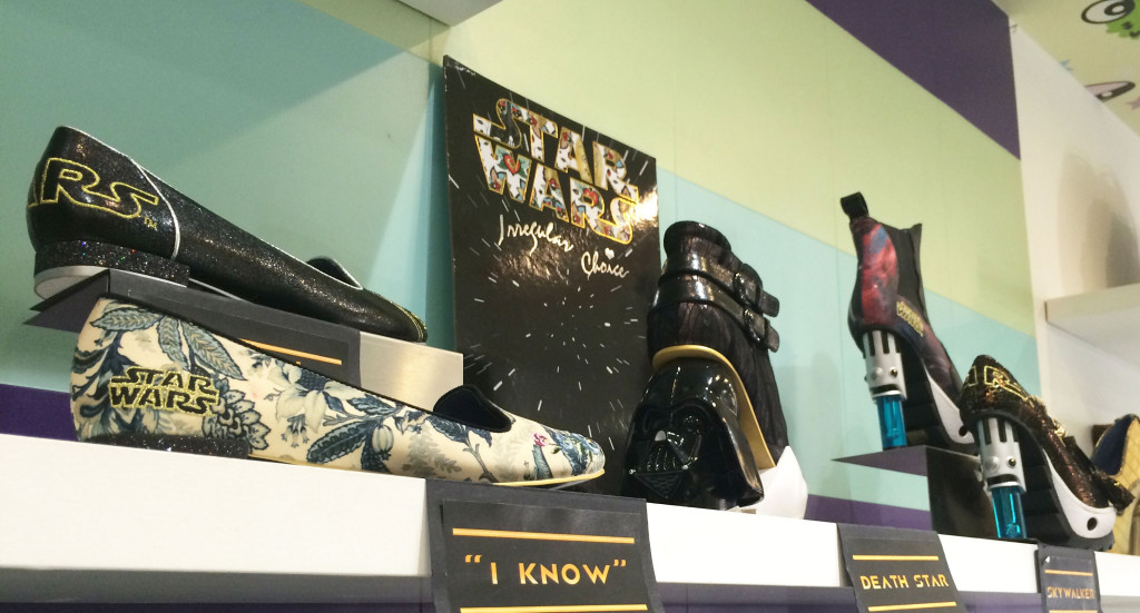 The British designer Dan Sulliven teamed with Disney to create a line of shoes related to Star Wars. It is his first collaboration with the studio. Photo credit: Darya Luganskaya