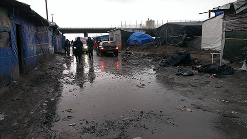 Mud dominates the Calais 'Jungle'. Photo: Yee-Liu Williams