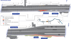 A section of the new east-west cycle superhighway in detail
