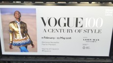 Vogue 100 years a century of style. Image by Catherine McMaster