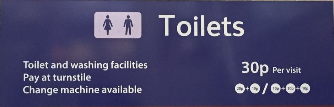 Travellers are required to spend a penny each time they visit a loo in London. Photo: Jordaania Andima