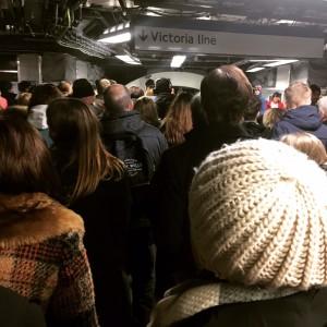 Overcrowding at Victoria Underground Station Credit // Pawandeep Dosanjh