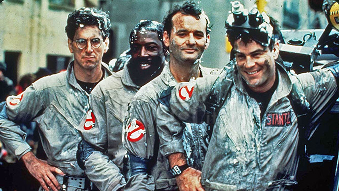 The old Ghostbusters original cast where all male. Photo: moviepilot.com