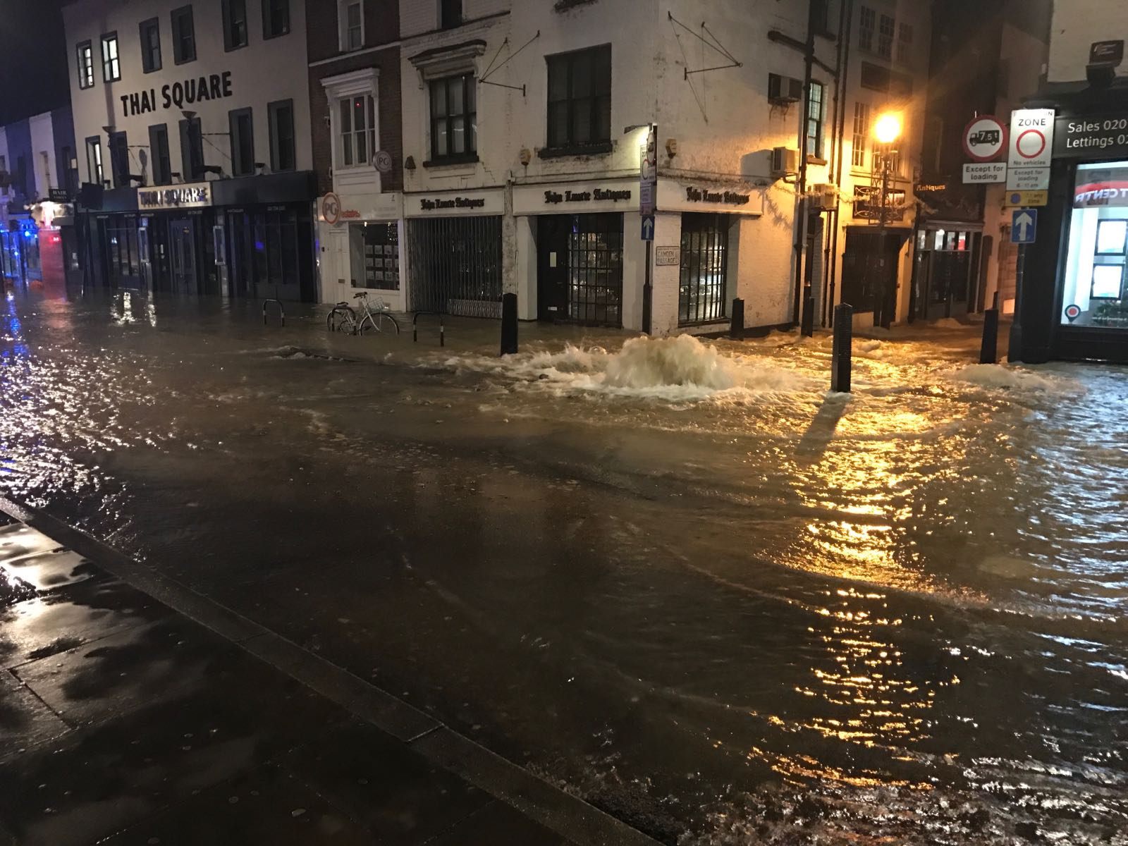 Islington Flooding: Dozens forced to evacuate after water main burst
