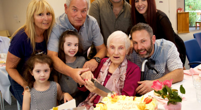 A Jewish Care home resident celebrates her 103rd birthday